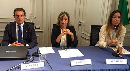 Vincenzo Moretta, Francesca Giglio e Maria Caputo