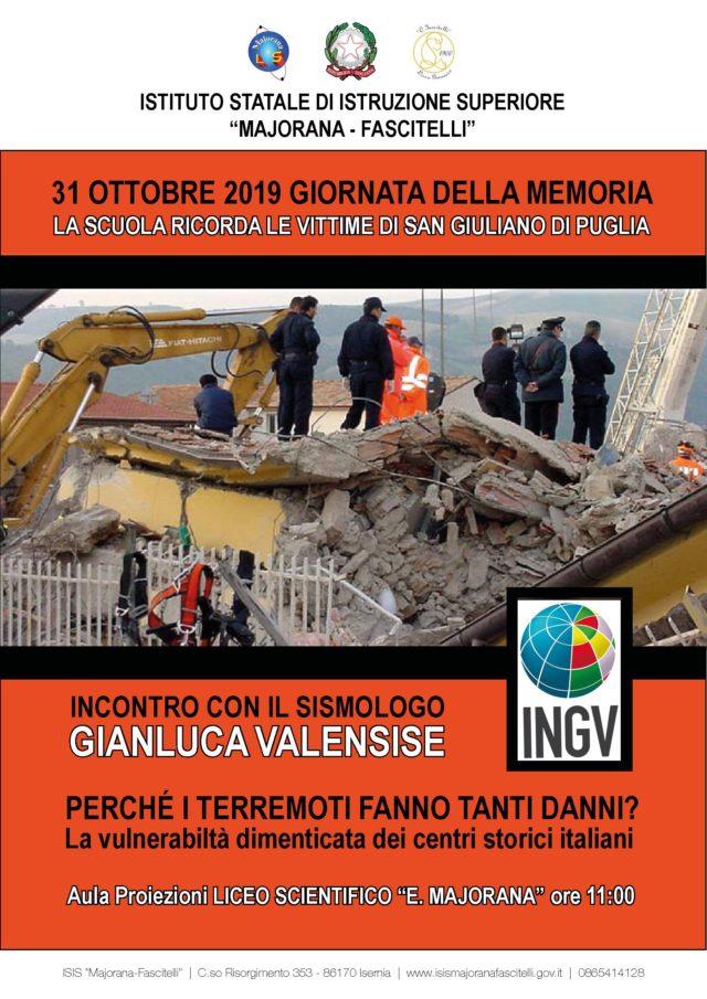 31 ottobre 2019 Giornata della Memoria