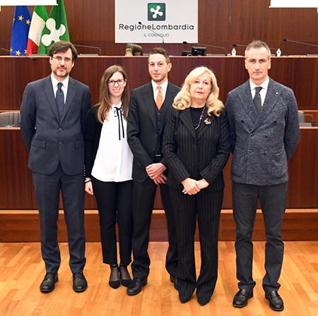 Carlo Borghetti, Ilaria Penati, Simone Penati, Rita Penati e Alessandro Fermi