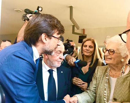 Carlo Borghetti e Liliana Segre