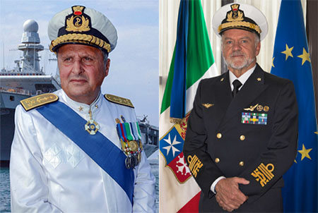 Ammiraglio Donato Marzano e Ammiraglio Paolo Treu