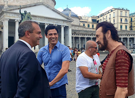 Luigi de Magistris, Alessandro Gassman e Marco Giallini