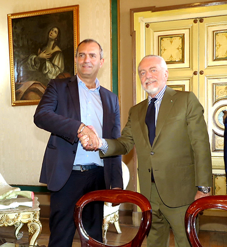 Luigi de Magistris e Aurelio De Laurentiis