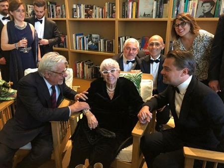 Paolo Rossi Pisu, Giancarlo Giannini, Lina Wertmüller e Leonardo Di Caprio