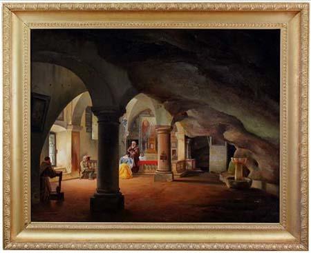 'Scena di battesimo nella cappella di San Vittore di Brembate' di Federico Moja