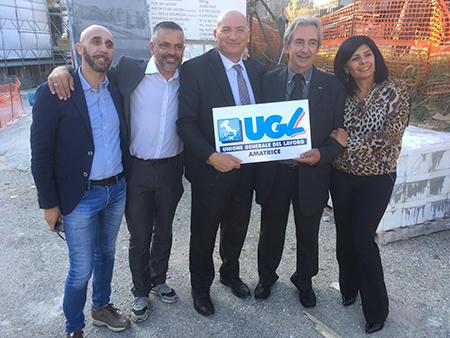 UGL Lazio ad Amatrice (RI)