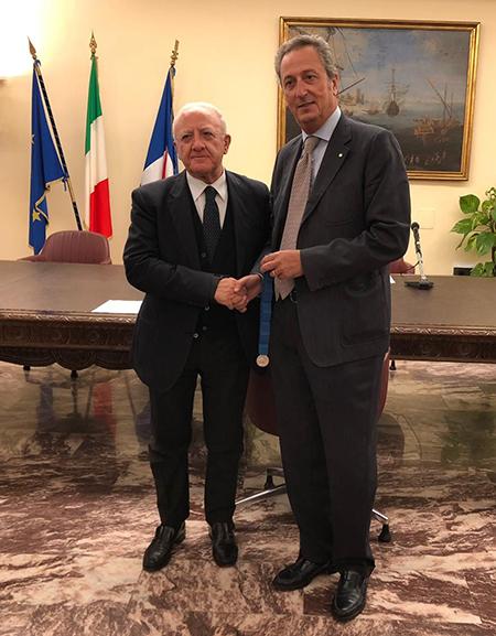 Vincenzo De Luca e Peppe Esposito