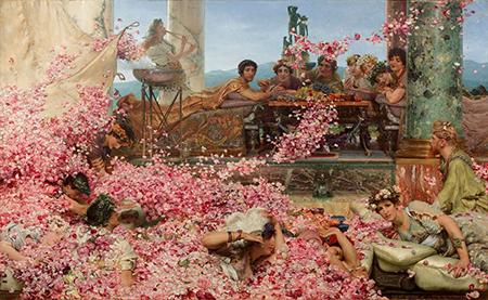 'Alma Tadema'- Rose Eliogabalo