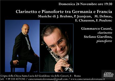 Clarinetto e pianoforte tra Germania e Francia
