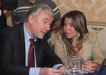 Enrico Panini e Alessandra Clemente