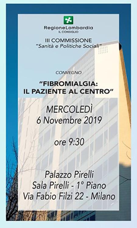 Lombardia, a Palazzo Pirelli convegno sulla fibromialgia - Ex Partibus