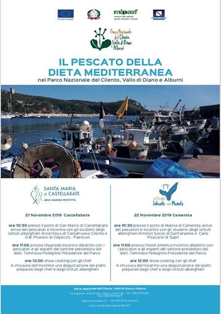 'Il Pescato della Dieta Mediterranea del Parco Nazionale del Cilento Vallo di Diano e Alburni'