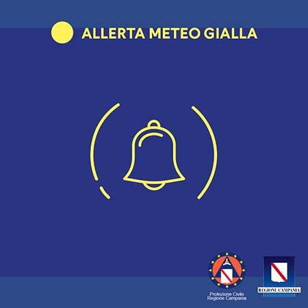 Regione Campania allerta meteo gialla