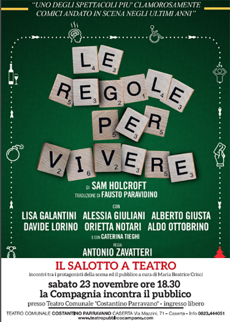 'Il Salotto a Teatro' - 'Le regole per vivere'