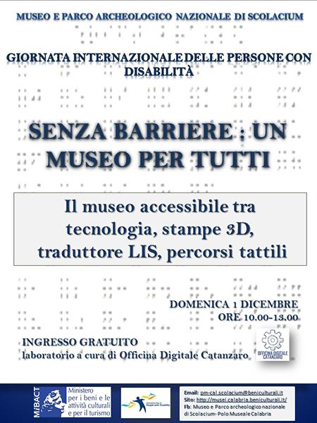 'Senza barriere: un museo per tutti'