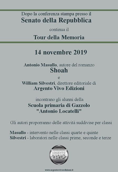 'Shoah - La cintura del Male' alla Scuola Primaria 'Antonio Locatelli'