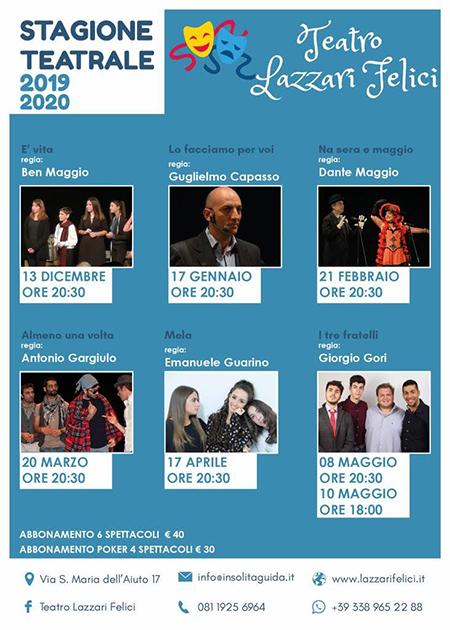 Teatro Lazzari Felici stagione 2019 - 2020