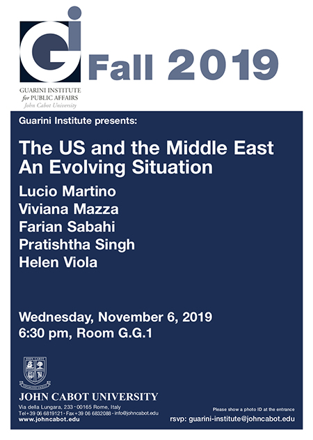 'The US and the Middle East, an evolving situation'