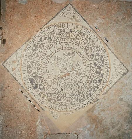 Mosaico pavimentale della Collegiata di Sant'Orso di Aosta