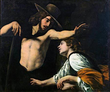 1_Museo di Palazzo Pretorio_Battistello Caracciolo Noli me tangere 1618 olio su tela cm 123x142