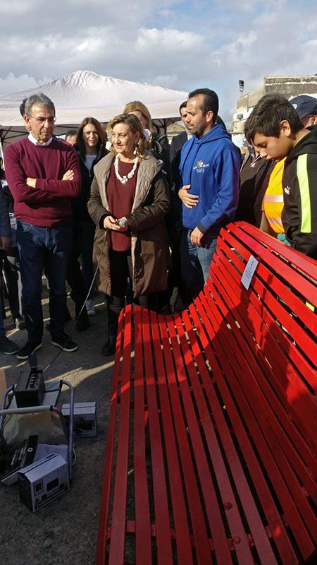 Panchina Rossa per donne migranti