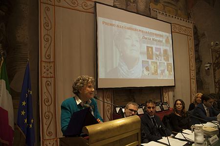 Premio Franco Cuomo per la Letteratura a Dacia Maraini ph Gianlorenzo Lombardi