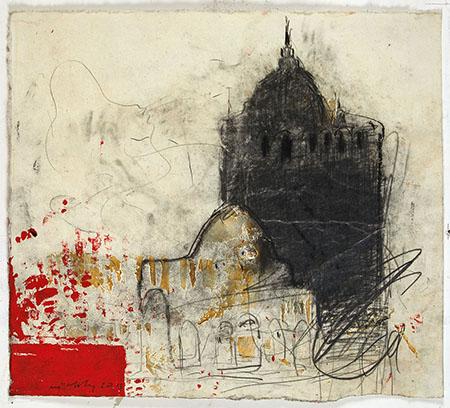 Senza titolo, Pizzi Cannella, 2011, tecnica mista su carta, cm 55x61