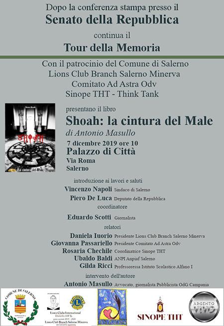 'Shoah - La cintura del Male' a Palazzo di Città