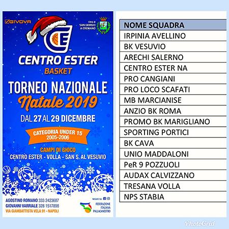 Torneo di Natale al Centro Ester di Napoli
