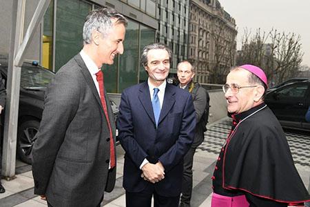 Alessandro Fermi, Attilio Fontana e Mario Delpini