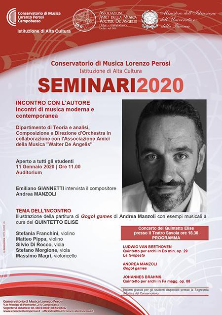 Incontro con il compositore Andrea Manzoli