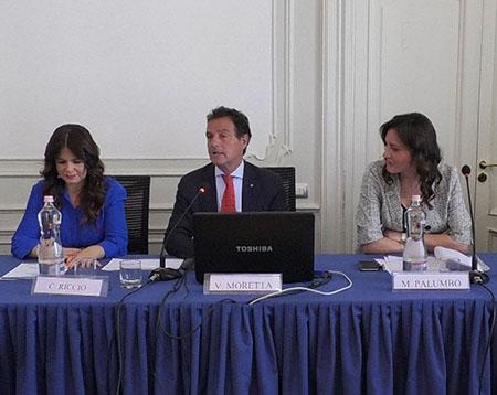 Concetta Riccio, Vincenzo Moretta e Monica Palumbo