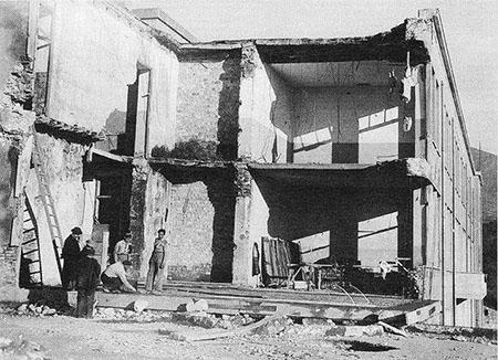 Cori (LT) scuola elementare dopo bombardamento 30-01-1944