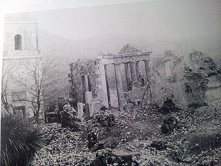Cori (LT) Tempio d'Ercole dopo bombardamento 30-01-1944