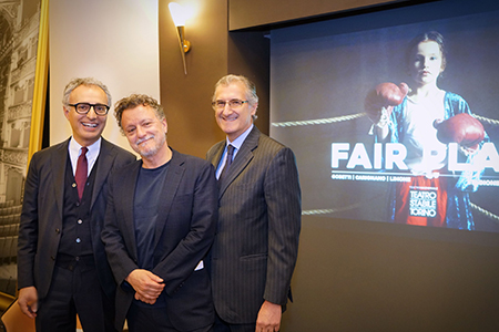 Filippo Fonsatti, Valerio Binasco e Lamberto Vallarino Gancia - ph Michele D'Ottavio