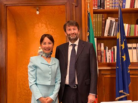 Jane Sun e Dario Franceschini