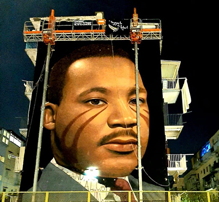 Murale di Jorit Martin Luther King