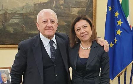 Vincenzo De Luca e Paola De Micheli