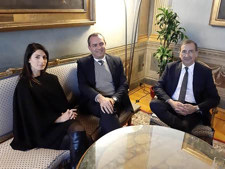 Virginia Raggi, Luigi de Magistris e Giuseppe Sala