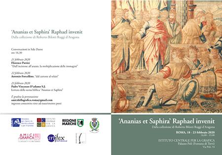 ''Ananias et Saphira' Raphael invenit'