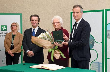 Attilio Fontana, Lilana Segre ed Alessandro Fermi