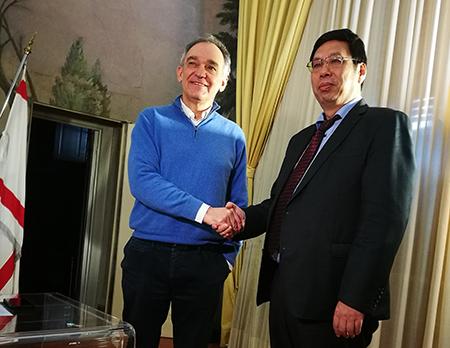 Enrico Rossi e Wang Wengang