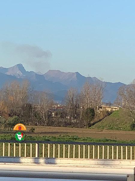 Incendio Monte Croce