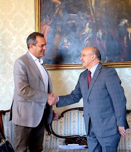 Luigi de Magistris e Ahmed Boutalhe