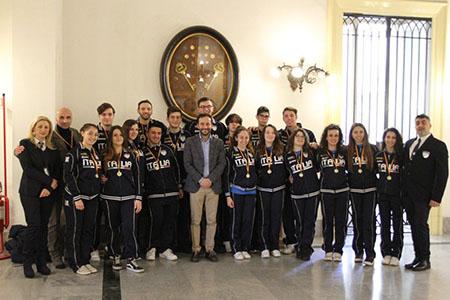 Napoli premiazione atleti Chambara