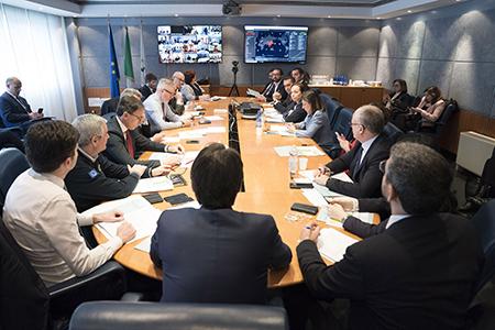 Videoconferenza Giuseppe Conte e Regioni