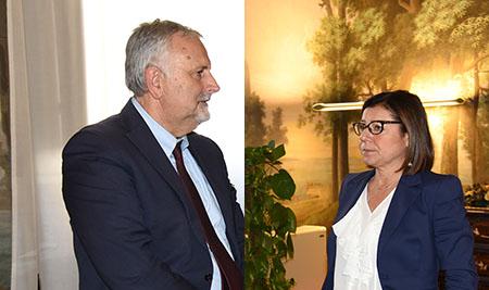 Vincenzo Ceccarelli e Paola De Micheli