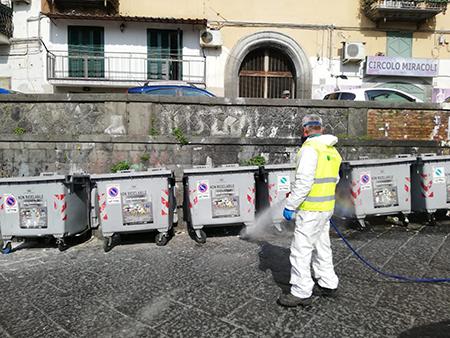 Igienizzazione strade Napoli