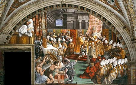 'Incoronazione di Carlo Magno' - Raffaello