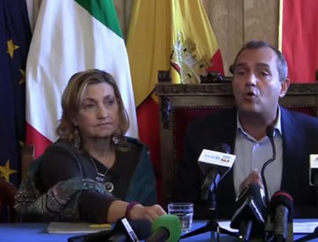 Lucia Francesca Menna e Luigi de Magistris